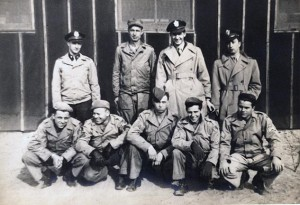 Jim Baynham with his B-24 Crew.  Jim is in the second row, second from the right.