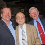 Hugh Ambrose and Pacific veterans Frank Pomroy and Sid Phillips at the 2010 screening of 'The Pacific' at the Museum.