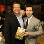 Hugh Ambrose and actor John Seda at the 2010 screening of 'The Pacific' at the Museum.