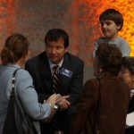 Hugh Ambrose visits with guests at a Museum event in 2009.