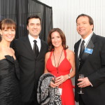 Rosemarie DeWitt, Ron Livingston, Andrea and Hugh Ambrose at the Grand Opening of the Solomon Victory Theater in 2009.