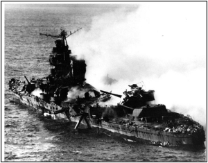 Sinking of Japanese Cruiser Mikuma, June 6, 1942,  Battle of Midway.