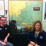 Showcasing artifacts before going live for the Adult Learning Webinar series on the Battle for Iwo Jima