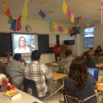 Teachers learning how they can use Skype in their own classrooms.