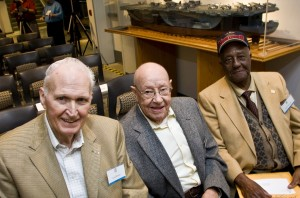 Lou Brissie, Morrie Morris, and Herb Simpson at The Museum's Baseball Conference in 2007.