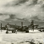 The Enola Gay on the runway at Tinian