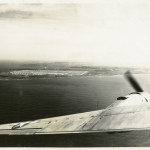 The view from a bomber over Tinian