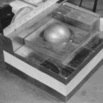 A reconstruction of the device Daghlian was using to test reflection of neutrons onto the plutonium core.