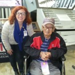 Kuroki and Curator Kim Guise at The National WWII Museum
