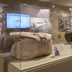 Calvin Moret's Aviator Bag used to carry his parachute from the equipment issue room to his aircraft while training at Tuskegee, Alabama is on view in The National WWII Museum's special exhibit Fighting for the Right to Fight: African American Experiences in WWII until May 31, 2016.