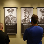 Teachers learn about the seven African Americans who belatedly received the Medal of Honor for their WWII service during a visit to The National WWII Museum's special exhibit, Fighting for the Right to Fight: African American Experiences in WWII.