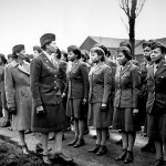 Members of the Women's Army Corps's 6888th Central Postal Directory Battalion in England helped streamline the mail system in Europe, greatly improving soldiers' morale. National Archives, 111-SC-200791.