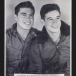 Ernest E. Gallego (right) with first cousin, Alex Mahlovich, Hampton Roads, Virginia. Gallego served with the 97th Bomb Group, 340th Bomb Squadron, in Italy. Ernest E. Gallego Collection (AFC/2001/001/30208), Veterans History Project, American Folklife Center, Library of Congress.
