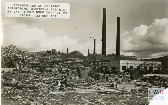 Devastation of Nagasaki Industrial Factory District by Second Atomic Bomb on Japanese on 22 September 1945