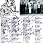 This page from the 1944 Broadway High School yearbook lists the many seniors who have joined the military. Collection of The National WWII Museum.