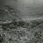 A US truck convoy along the recently completed Ledo Road, January 28, 1945.  From the Collection of The National WWII Musuem.