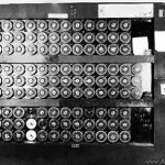 Turing's Bombe, which helped crack the Enigma code.