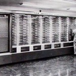 The Harvard Mark 1, built by IBM according to the plans of Howard Aiken.