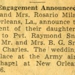 Engagement announcement for Anna Mae and Raymond.