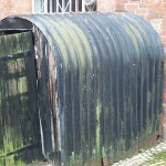 An Anderson shelter that served as a shed for many years after the war.