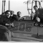 Crew members aboard PT-305. Gift of Joseph Brannan, from the collection of The National WWII Museum.