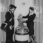Collecting used stockings for recycling during the war. From the Education Collection at the NWWII Museum.