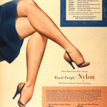 An ad from Sears in 1940, when nylon stockings first entered the retail market. From the Education Collection at the NWWII Museum.