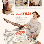 An ad from 1948 when nylon returned to the retail market. From the Education Collection at the NWWII Museum.