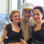 Bert with the Museum's Victory Belles.