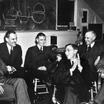 Loomis, at the far right, is in very good company-Ernest Lawrence, Arthur Compton, Vannevar Bush, James Conant, and Karl Compton. From Wikimedia Commons.