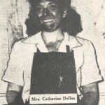 "Catherine Dolles served as the ""lead woman in inspection"" on a production line at Higgins Industries' Michoud plant during the final year of World War II. Mrs. Dolles, along with thousands of other employees, worked on parts that, unknown to them, were destined for the Manhattan Project—the top-secret drive to build an atomic bomb. ""Orleanians, from Youths to Grandmothers, Help Build Atom Bombs,"" <em>The Times-Picayune New Orleans States</em>, August 12, 1945. Courtesy of Jerry Strahan."