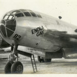 The nose of the Enola Gay, probably on a Tinian airfield in 1945. Gift of David Lawrence, from the collection of The National WWII Museum.