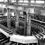 The Alpha II track at the Y-12 facility. Image from Manhattan District History, Manhattan Project, US Army Corps of Engineers, Book V: Electromagnetic Project, Volume 6 – Operation.