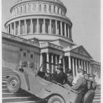 The first time the term Jeep was used in print was in the caption of this publicity photo.