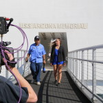 Tour the USS Arizona Memorial with child witness Jimmy Lee and student reporter Julia Bresnan.