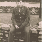 A service-era photo of Private Harold Baumgarten.