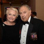 Dr. Harold Baumgarten with his wife, Rita, at the 2015 Victory Ball.