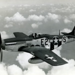 A P-51 Mustang in flight. From The National WWII Museum.