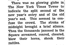 There was no NYE Ball drop on December 31, 1943 to welcome 1944.