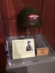 M1 helmet worn in WWII by Ella Fitzgerald