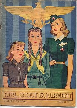 Equipment catalog cover from Spring 1942. Photo courtesy of Vintage Girl Scout website.