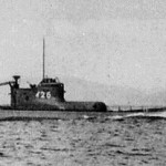 A period photo of a Japanese submarine similar to the one used in the Ellwood Bombardment. From Wikimedia Commons.
