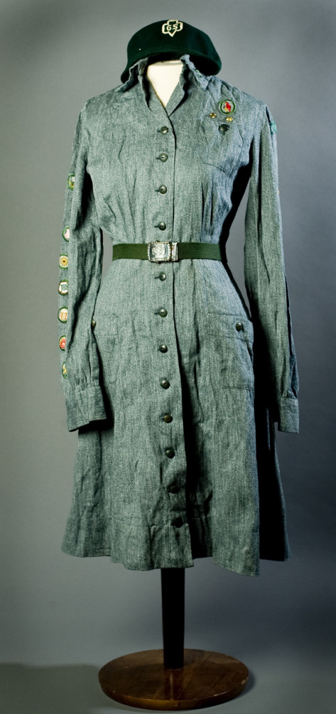 Intermediate Girl Scout Uniform style from 1938-1948. Photo courtesy of the National WWII Museum collection.