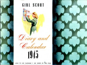 Girl Scout Calendar from 1945. Photo courtesy of the National WWII Museum collection.