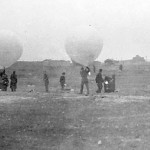Release of weather balloons with offensive payloads from Felixstowe, some time between 1942 and 1944.
