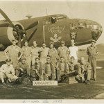 A crew in training outside their B-25.