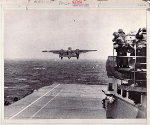Lieutenant Colonel   Jimmy Doolittle was  first to take off from the Hornet.