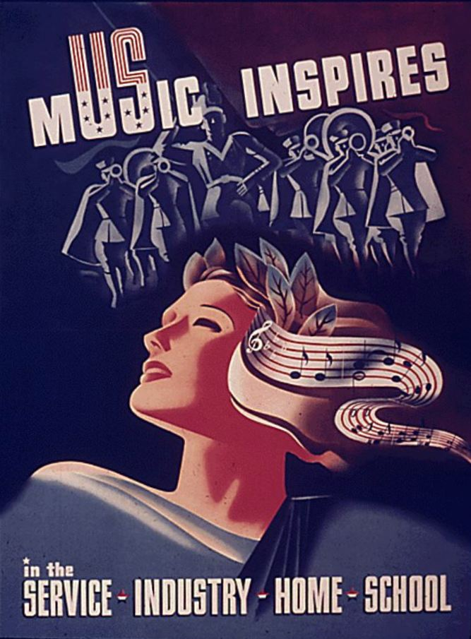 WWII poster, 1941-1945. Image courtesy of the National Endowment for the Humanities.