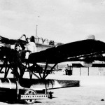 This is a picture of the I-25's seaplane with the pilot.