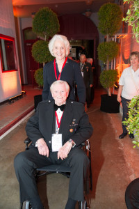 Howard and Jean Hart at the opening of Road to Tokyo.